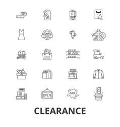 Clearance sale stock custom closeout center vector