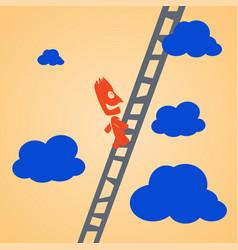 climbing businessman vector image