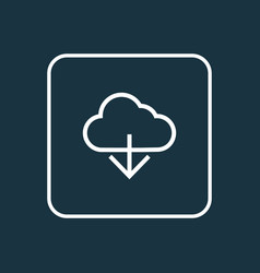 cloud outline symbol premium quality isolated vector image