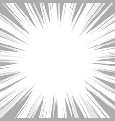 Comic book flash explosion radial background vector