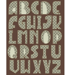Cross English Alphabet vector image