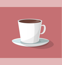 cup of coffee with plate vector image