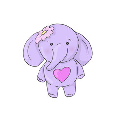 cute cartoon lovely girl elephant vector image