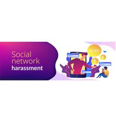 Cyberbullying concept banner header vector