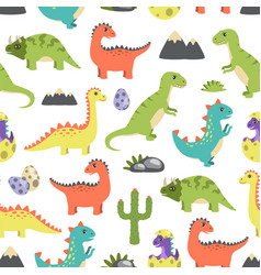 Dino seamless pattern image vector