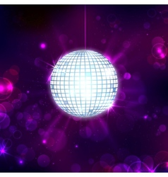 Disco Ball on Musical Background vector image