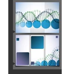 DNA Brochure Design vector