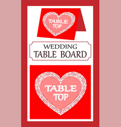Doodle for a wedding pointer to the main table vector