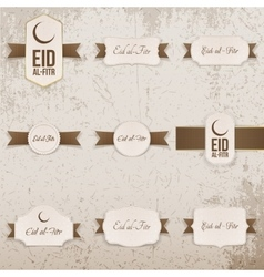 Eid al-Fitr realistic Design Elements Set vector