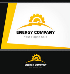 energy company logo style vector image