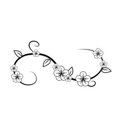figure flowers branches decoration vector image
