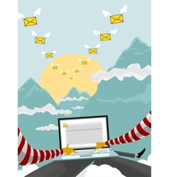 Flying email vector image vector image