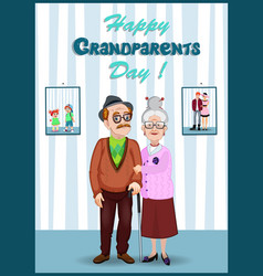 Forever together greeting card grandparents vector
