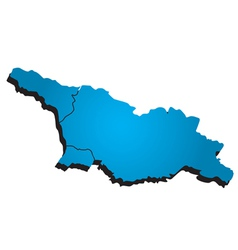 Georgia administrative map vector image