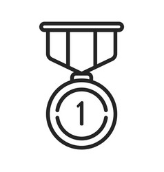 Gold medal icon vector