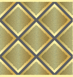 Golden dotted squares seamless pattern vector