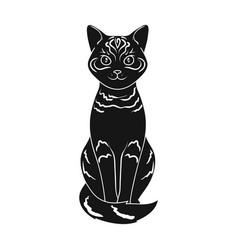 gray catanimals single icon in black style vector image