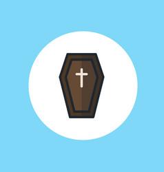 halloween coffin icon sign symbol vector image