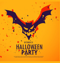Happy halloween party background vector