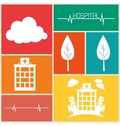 Hospital medical center design vector