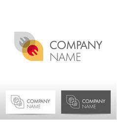 industry logo design vector image