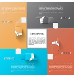 Infographic design template eps 10 vector image