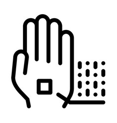 information chip on hand biomaterial icon vector image