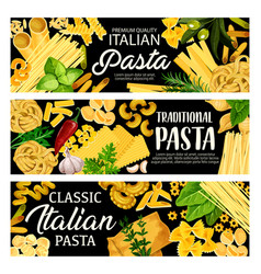 Italian pasta herbs spices and olives vector