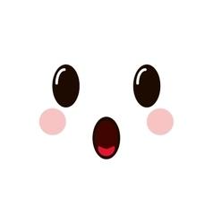 Kawaii facial expression icon vector
