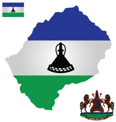 Kingdom of Lesotho Flag vector image
