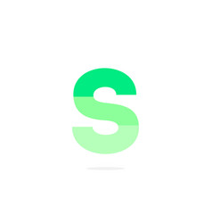 logo letter s green energy battery vector image