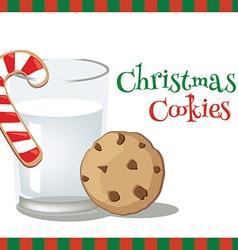 Milk christmascookie vector