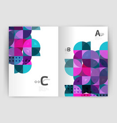 Modern business brochure or leaflet a4 cover vector