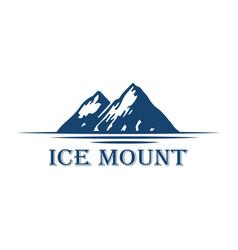 mountain lake forest pine trees rock logo design vector image
