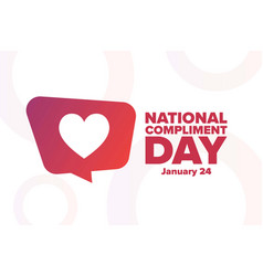 National compliment day january 24 holiday vector
