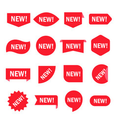 new sticker set vector image