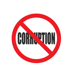 no corruption sign vector image