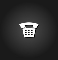 old phone icon flat vector image