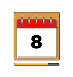 On the eighth day in the calendar vector image