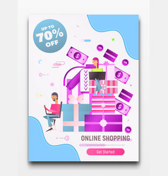 online shopping poster vector image