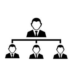 person management sign icon vector image