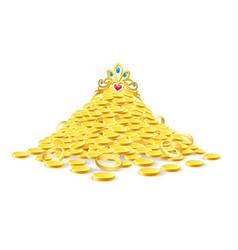 Pile treasure vector