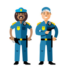 police policeman flat style colorful vector image