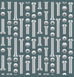 realistic screw background pattern different vector image