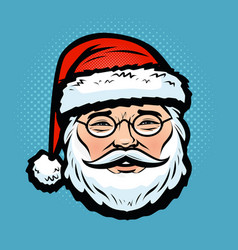 santa claus christmas holiday symbol cartoon vector image