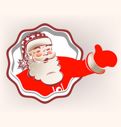 Santa claus in the frame vector