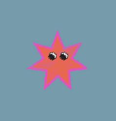 Sea star caribbean starfish in hatching style vector