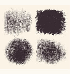 set hand drawn brush strokes and stains vector image