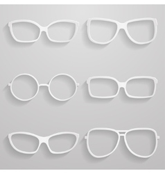 Set of paper sunglasses vector image vector image
