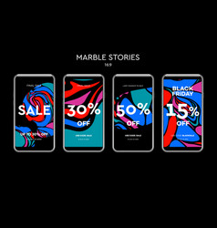 set of sale web banners for social media mobile vector image